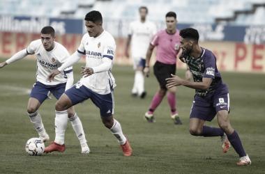 Imagen del último partido entre el Málaga y el Real Zaragoza / Fuente: Málaga CF