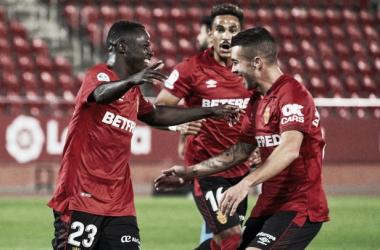 Amath celebrando un gol/ Fuente: AS