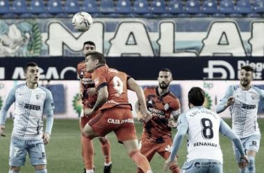 Imagen del último partido entre la Ponferradina y el Málaga en La Rosaleda / Fuente: SD Ponferradina