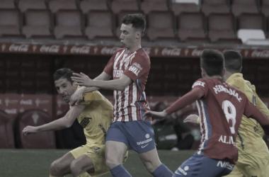Imagen del último encuentro entre el Sporting de Gijón y el Málaga / Fuente: Sporting de Gijón