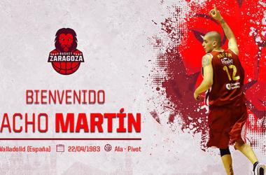 Nacho Martín regresará a la que fue su casa durante la temporada 2009-2010/ Fuente: Basket Zaragoza.