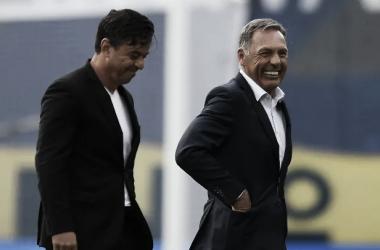 Marcelo Gallardo y Miguel Ángel Russo en el último enfrentamiento.