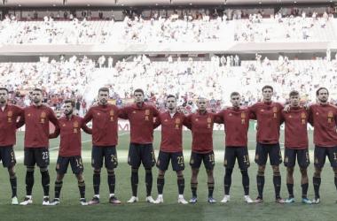 XI inicial de España ante Portugal. // Imagen: Diario AS.