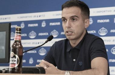 Borja Jiménez atendiendo a los medios en rueda de prensa // RCDeportivo