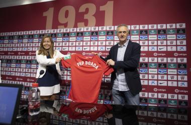 Patricia Rodríguez y Pep Boada, nuevo director deportivo del Granada CF | Foto: ALJ