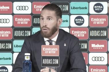 Sergio Ramos en su última rueda de prensa