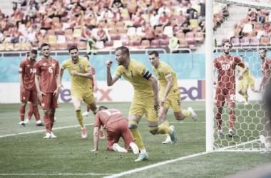 Puntuaciones del Ucrania-Macedonia del Norte en la Eurocopa 2020