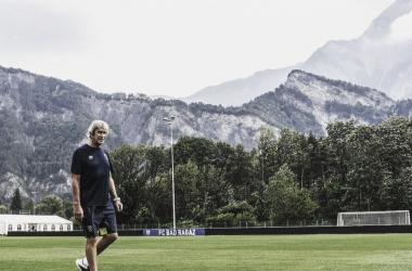 Manuel Pellegrini en las instalaciones deportivas de Bad Ragaz (Suiza).Foto:Ing_Pellegrini