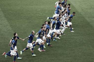 Italia celebró la clasificación | Foto: UEFA