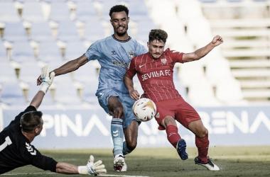Iván Romero en pretemporada ante el Coventry City. -Marca
