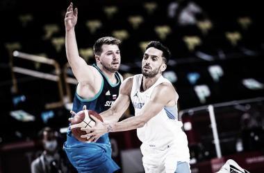 Luca Doncic y Facundo Campazzo fueron compañeros en el Real Madrid. Foto: @FIBA