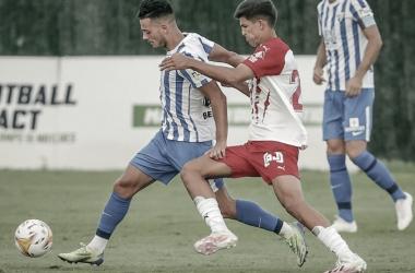 Imagen del encuentro amistoso entre el Almería y el Málaga / Fuente: Málaga CF