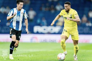 Wu Lei y Danjuma en el Espanyol - Villarreal. | Imagen: @VillarrealCF