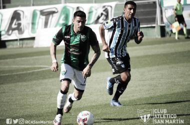 San Martín jugará una final el próximo sábado contra el líder Atlético Güemes.<div>FOTO: @CASanMartinSJ.</div>