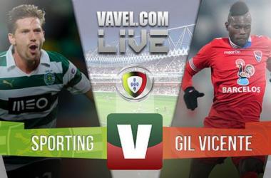 Sporting x Gil Vicente    na Liga NOS (2-0)