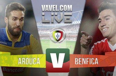 Arouca x Benfica    na Liga NOS (1-3)