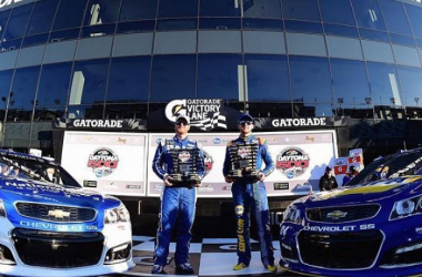 Hendrick teammates Chase Elliott and Dale Earnhardt Jr are both locked into their front row spots for the 2017 Daytona 500 | Picture Credit: nascar.com