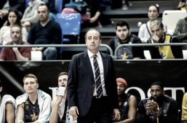 Txus Vidorreta durante el último partido de su equipo | Fotografía: ACB.