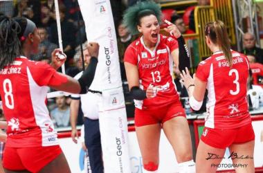 Valentina Diouf rimarrà a Busto Arsizio anche la prossima stagione. Foto di Ilaria Baldoin per Vavel Italia