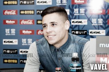 Álex Moreno durante una entrevista | Fotografía: Noelia Saiz