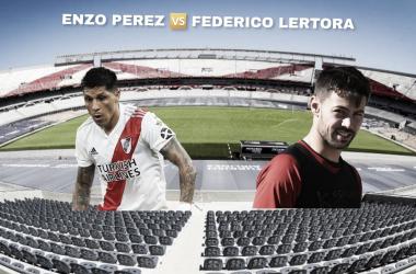 INTERESANTE. así sería para describir este duelo entre Pérez y Lértora en la zona de gestación del medio. Foto: Nicolás Castillo-Vavel Argentina
