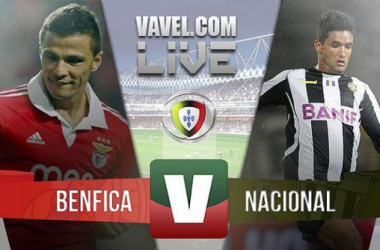 Resultado Benfica 3x1 Nacional na Liga Portuguesa 2015