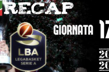 Legabasket: risultati e tabellini della 17esima giornata