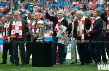 El Atlético de Madrid rinde homenaje a los campeones de la Intercontinental