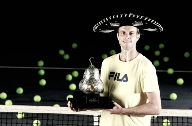 Sam Querrey becomes the first American to win the title at the Abierto Mexicano Telcel. (Photo: Abierto Mexicano de Tenis)
