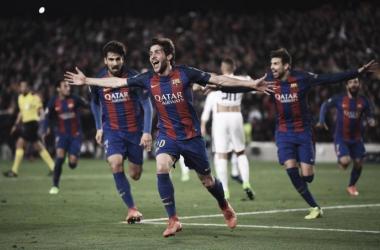 Sergi Robero fue el héroe de la noche en Camp Nou | Foto: UEFA Champiosn League