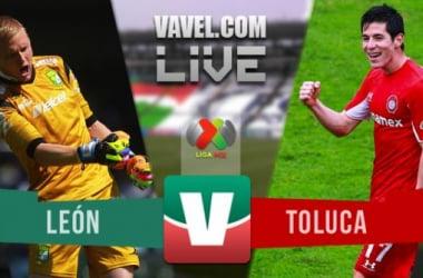 Resultado León - Toluca en Liga MX 2015 (1-1)