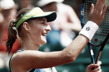 Makarova conquista uma das maiores vitórias de sua carreira| Foto: WTA/Divulgação