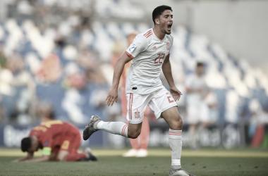 Pablo Fornals celebra con rabia su gol / Foto: UEFA