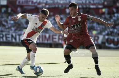 CLAVES. Borré(izquierda) y Vega(derecha) son importantes en River y Central Córdoba respectivamente. Foto: Getty images