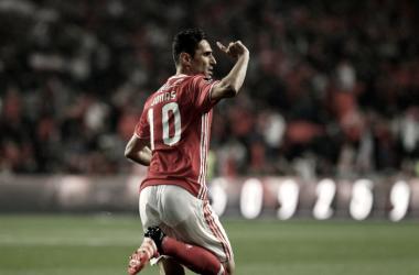 Jonas marcou o golo benfiquista do Clássico // Foto: Facebook do Sport Lisboa e Benfica