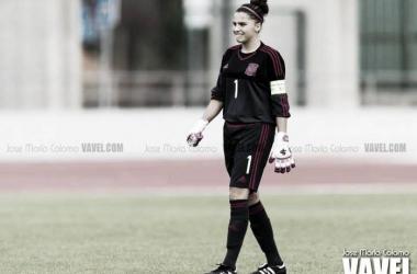 Noelia Ramos portera de la Selección Española Sub-19 | Foto: José María Colomo - VAVEL