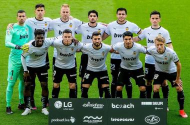 Once inicial del Valencia / Foto: Valencia CF