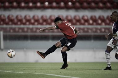 """GOLEADOR DE LA ÚLTIMA VEZ. """"Chino"""" Romero, anotó el último gol de Independiente frente un equipo uruguayo. Foto: Web"""