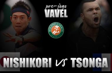 Nishikori enfrenta Tsonga valendo vaga na semifinal de Roland Garros
