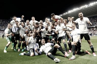 O Real venceu por 0-2 e assegurou o título // Foto: Facebook do Real Madrid C.F.