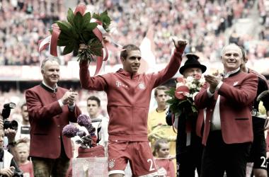 Philipp Lahm despediu-se emotivamente dos relvados // Foto: Facebook do Bayern de Munique