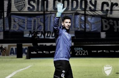 AFIANZADO. Espínola, fue uno de los puntos altos de la campaña de Godoy Cruz. Foto: Prensa Godoy Cruz