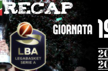 Legabasket serie A: risultati e tabellini della 19esima giornata