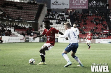 Sergio Gil, autor del gol maño (Foto: Albert Gil | VAVEL).