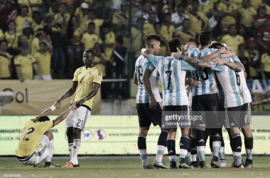 POR OTRO EXITO MÁS. La Selección ganó en su última visita a Colombia, buscará seguir por la buena racha. Foto: Getty images