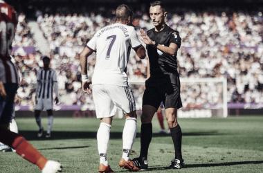 Sánchez Martínez en el Real Valladolid - Atlético de Madrid de la temporada pasada | Real Valladolid