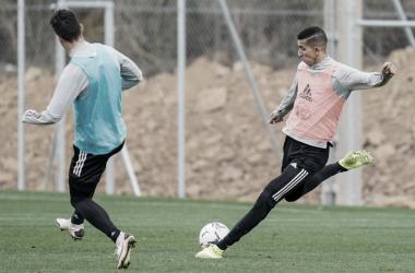 El Yamiq en un entrenamiento en los Anexos | Real Valladolid