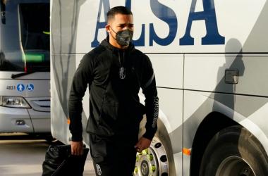 Yangel Herrera esta mañana antes de viajar / Pepe Villoslada / Granada CF