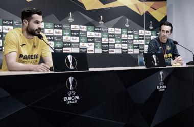 Emery y Mario en rueda de prensa / Foto: Villarreal