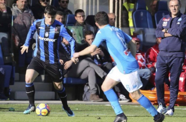 Riccardo Orsolini in azione con la maglia dell'Atalanta. | Facebook Riccardo Orsolini